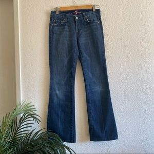 7 For All Mankind Bootcut Jeans Dark Wash Size 25